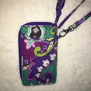Vera Bradley Wristlet in pattern Heather